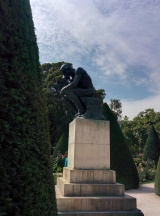 "Rodin's ""The Thinker"" in the park"