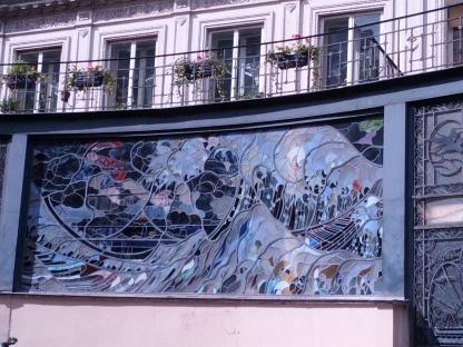 Mural in Montmatre