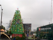 Christmas tree in downtown
