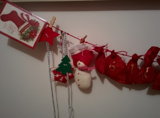 Yearly Christmas calendar garland
