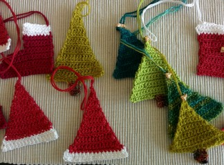 Crochet gift ornaments