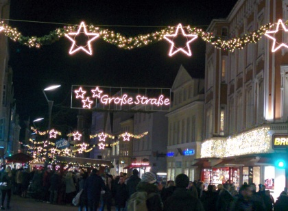 Pedestrian zone decorations