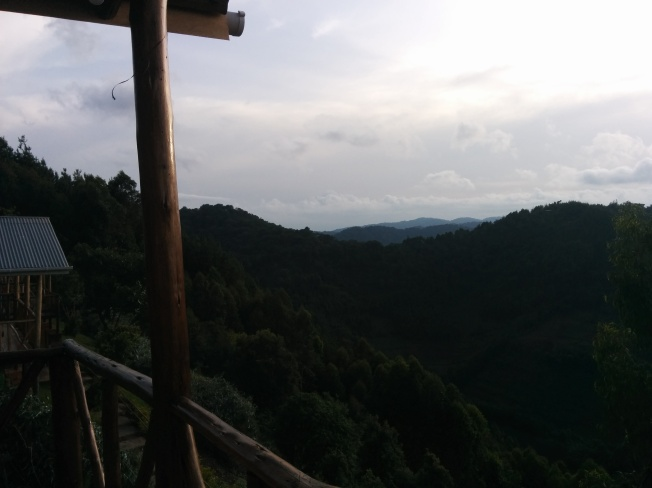 The view from our porch over the Bwindi forest peaks